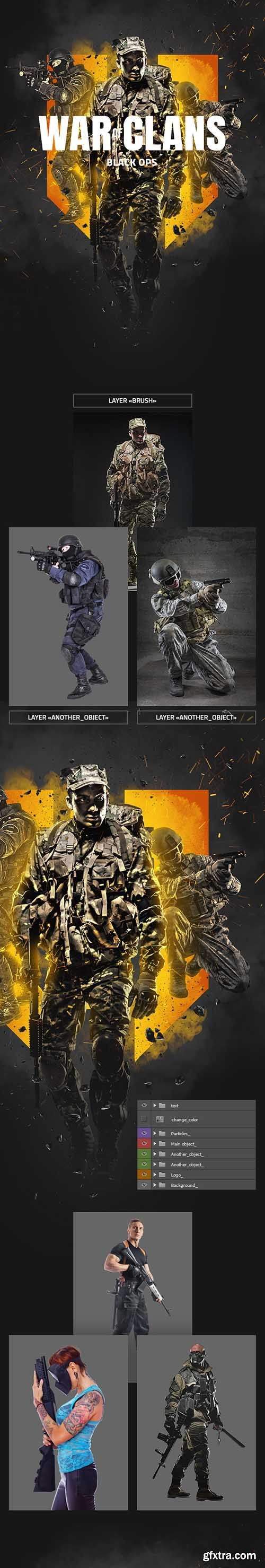 Graphicriver War Of Clans Photoshop Action 22778606