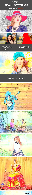 GraphicRiver - Color Pencil Sketch Art Photoshop Action 22732379