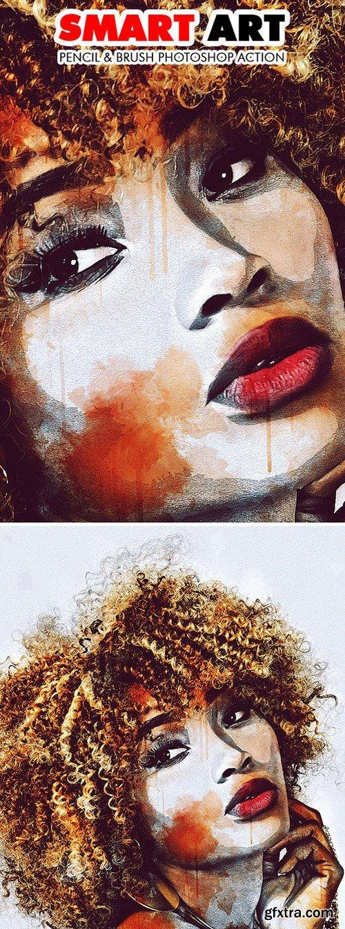 Graphicriver - Smart Art - Pencil & Brush Photoshop Action 19249292