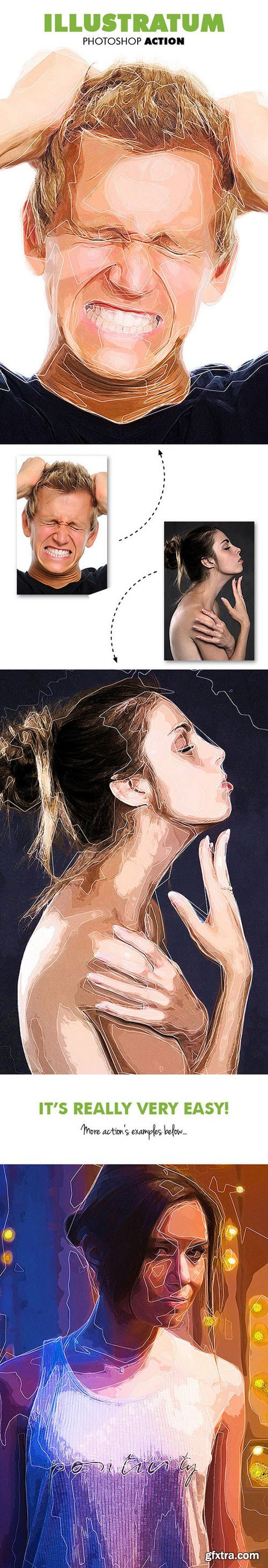 Graphicriver - Illustratum Photoshop Action 19718166