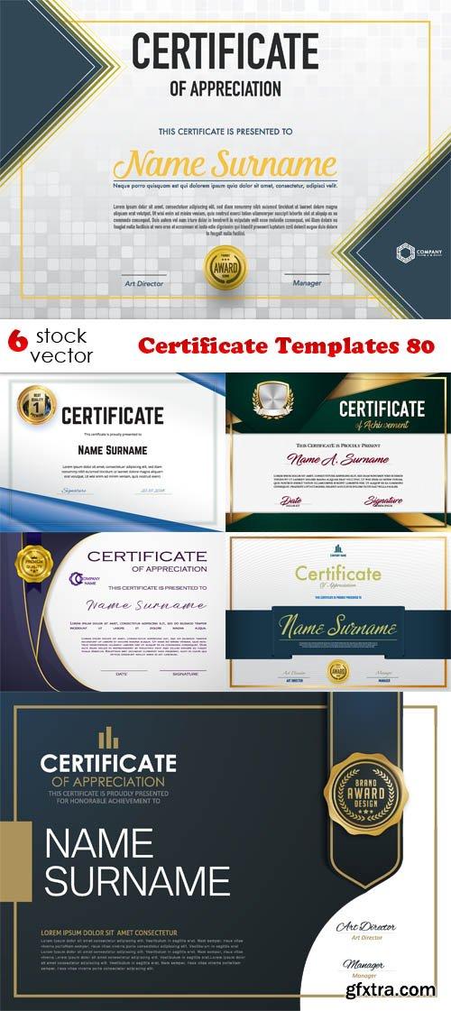 Vectors - Certificate Templates 80