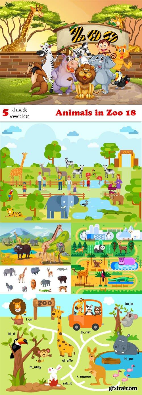 Vectors - Animals in Zoo 18