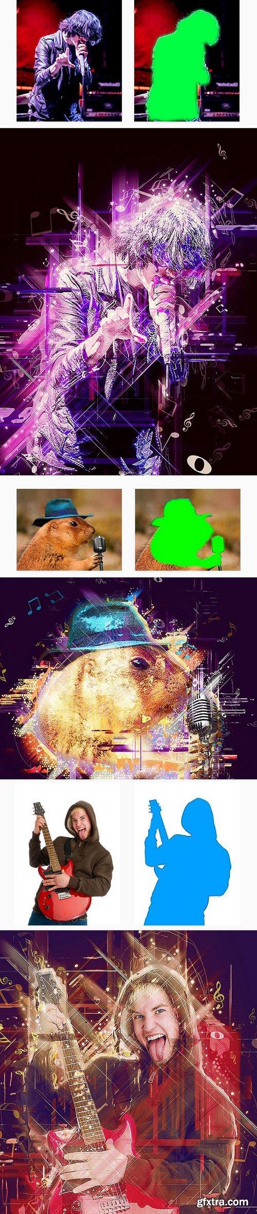 Graphicriver - Music Photoshop Action 17296287