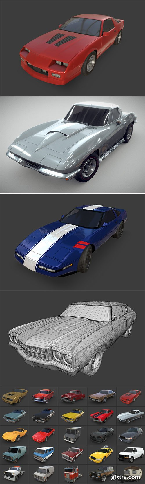 Cubebrush - American Cars Ultimate Collection - 645$