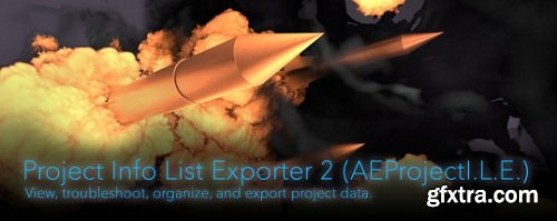 Project Info List Exporter 2 for After Effects