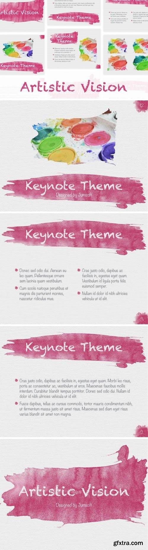 Artistic Visions Keynote template