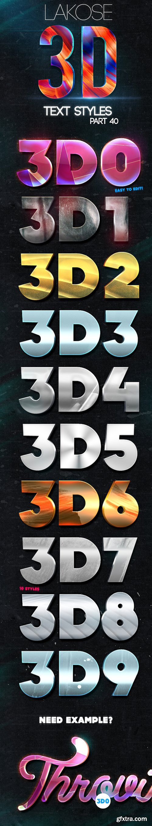 Graphicriver Lakose 3D Text Styles Part 40 22773273