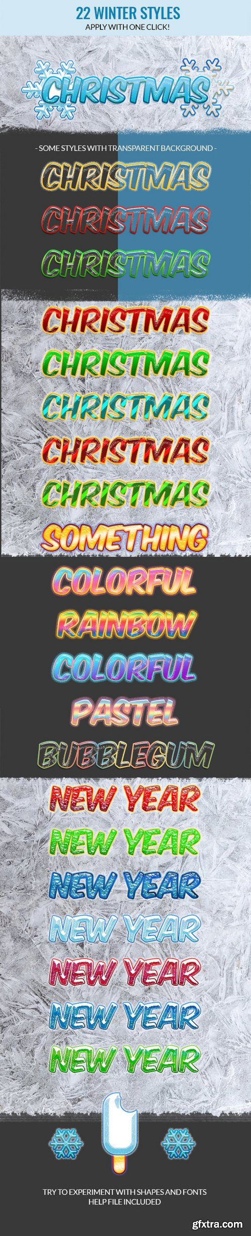 Graphicriver Holiday Christmas Photoshop Text Styles 21078144