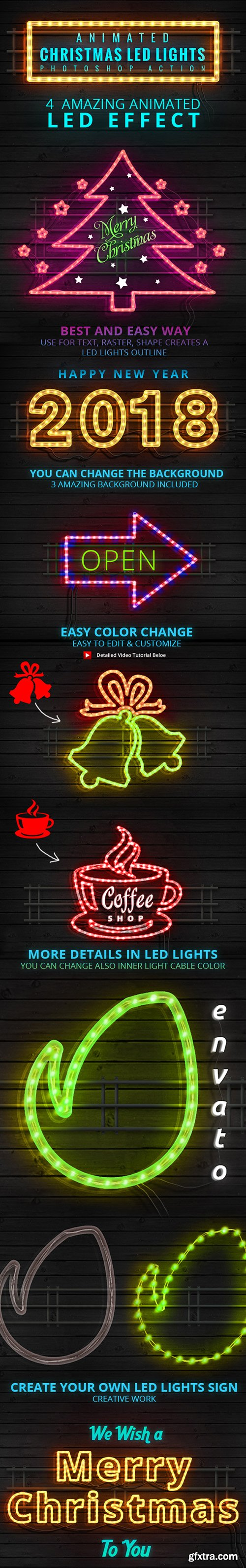Graphicriver Animated Christmas LED Lights Rope Action 21097051