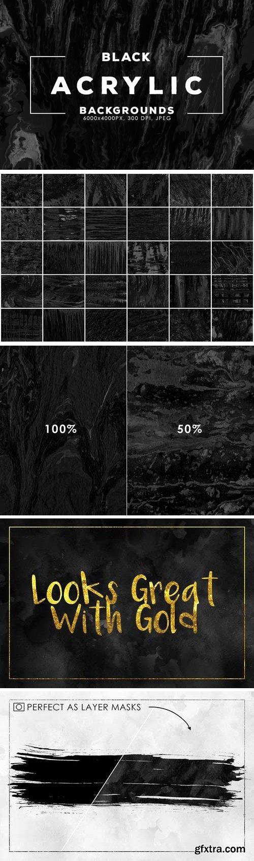 Black Acrylic Backgrounds