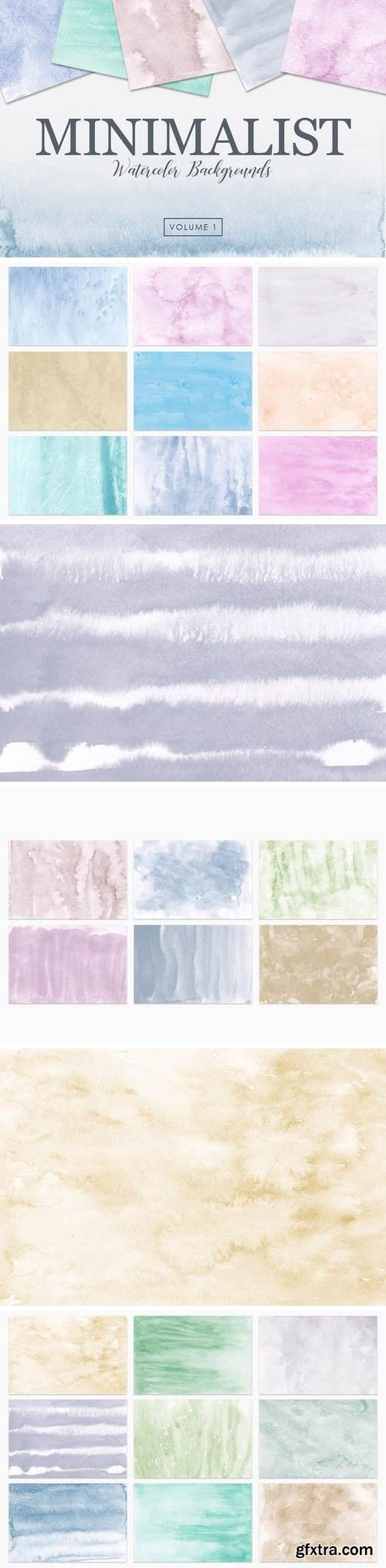 Minimalist Watercolor Backgrounds Vol. 1
