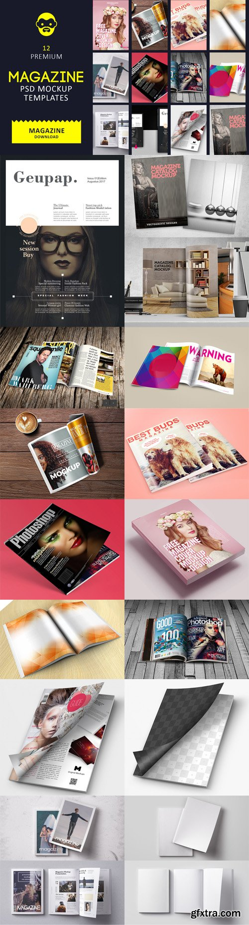 12 Best Magazine PSD Mockup Templates