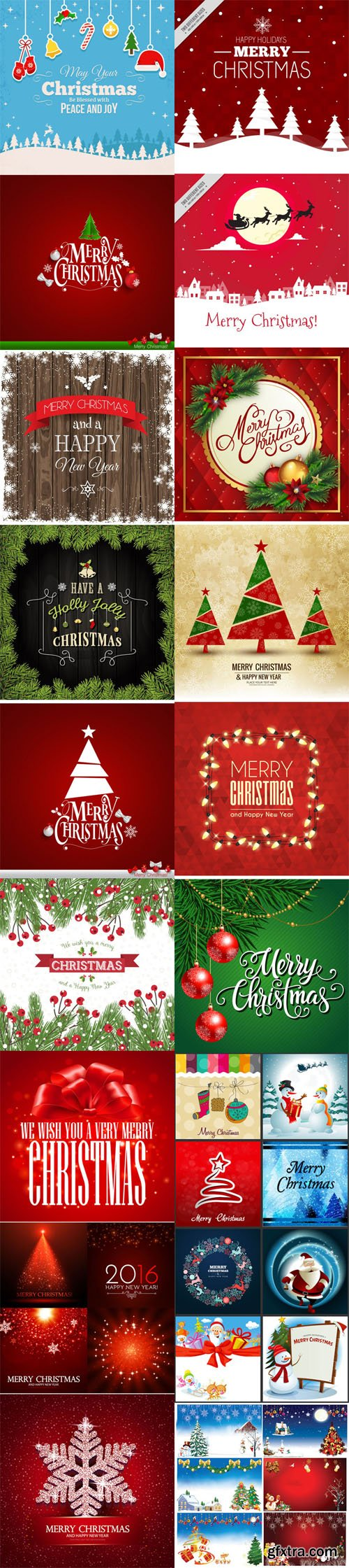 Christmas Backgrounds Vector Collection 1 [Ai/EPS/PSD]