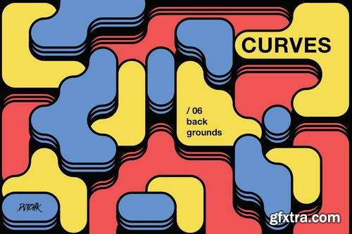 Curves | Rounded Colorful Blocks Backgrounds