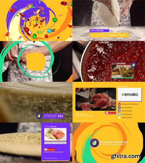 Videohive Youtube Food Channel Package 18925656