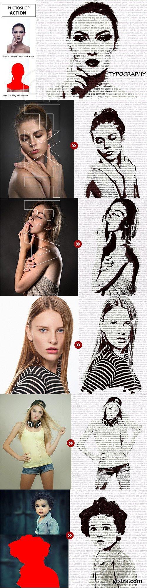 CreativeMarket - Typography Photoshop Action 3149351