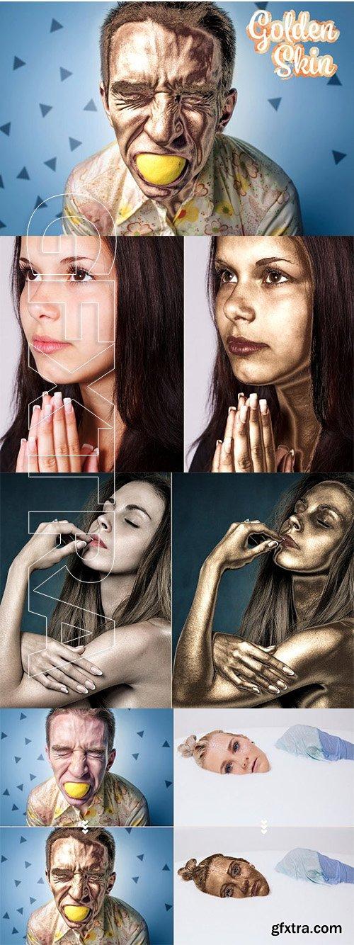 CreativeMarket - Golden Skin Photoshop Action 3146934