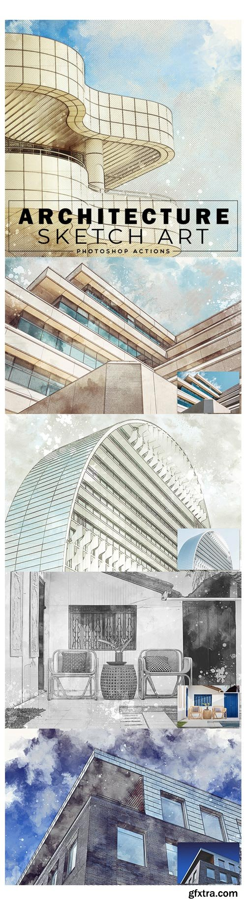 GraphicRiver - Architecture Sketch Art Photoshop Actions - 22797617