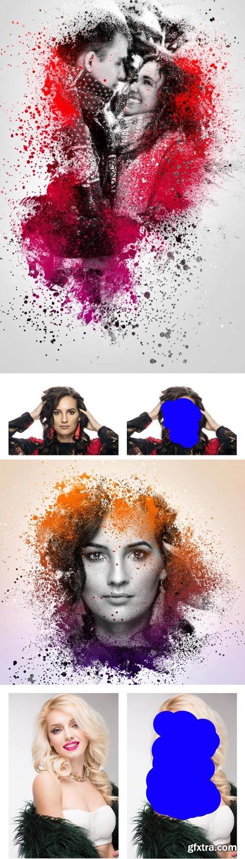 GraphicRiver - Colored Splash Photoshop Action - 22794175