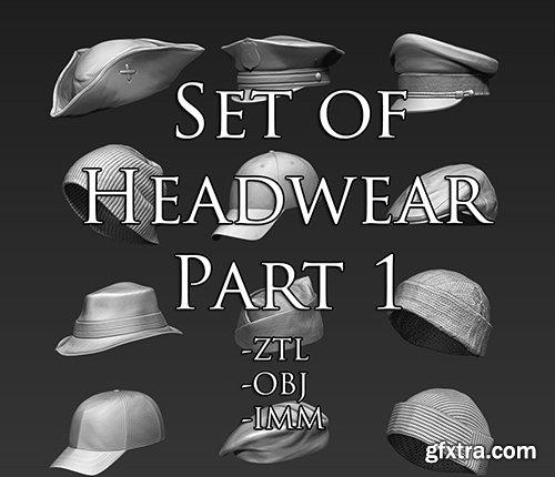 Cubebrush - Set of Headwear Part 1