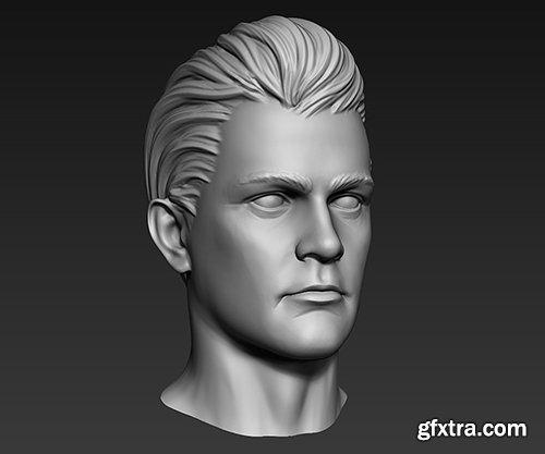 Cubebrush - 3D Print Ready Male Head