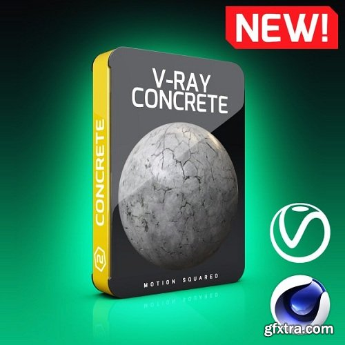 Motion Squared - V-Ray Concrete Texture Pack for Cinema 4D