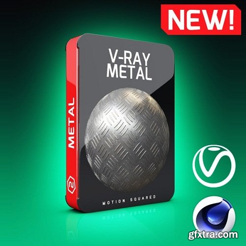 Motion Squared - V-Ray Metal Texture Pack for Cinema 4D