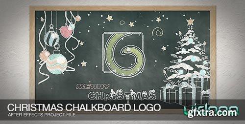 Videohive - Christmas Chalkboard Logo - 9800278
