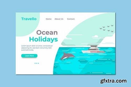 Ocean Holiday Landing Page Illustration