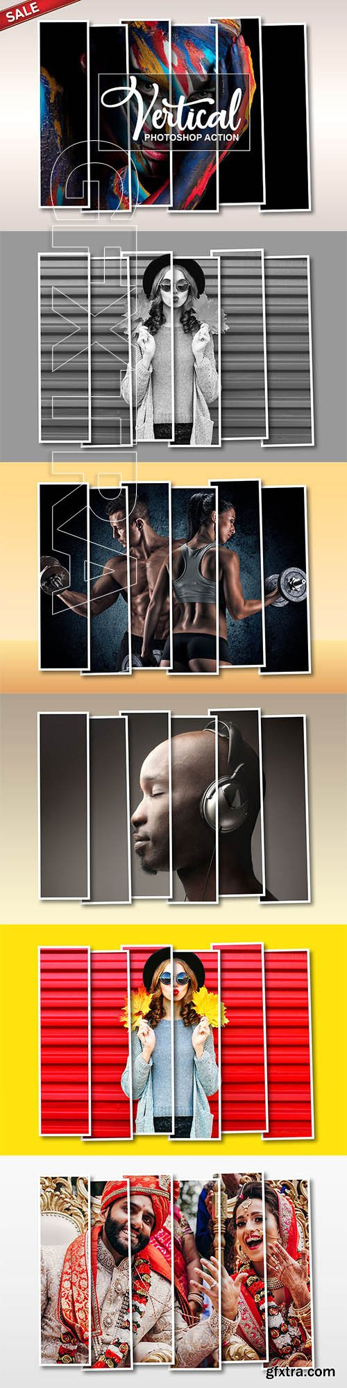 CreativeMarket - Vertical Panel Photoshop Action 3162480