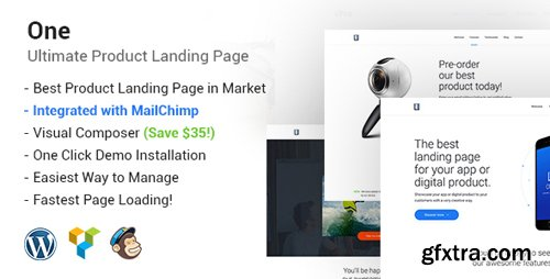 ThemeForest - One v1.5.1 - WordPress Product Landing Page - 19268173