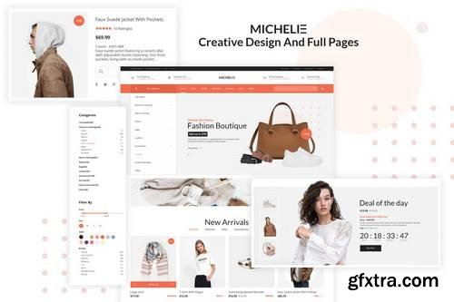 Michelie - Ecommerce PSD Template