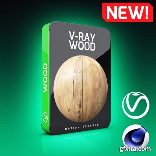Motion Squared – V-Ray Wood Texture Pack for Cinema 4D