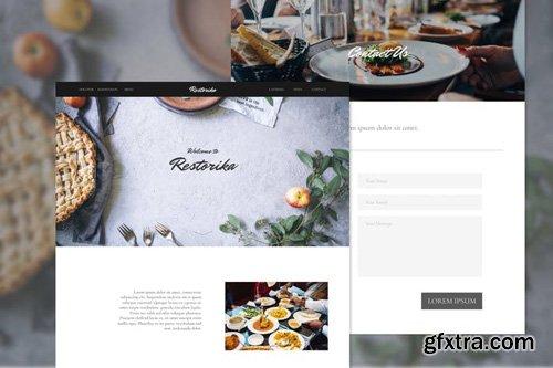 Restorika Delicate Restaurant Adobe XD Template