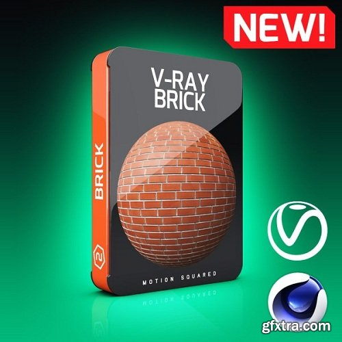 Motion Squared – V-Ray Brick Texture Pack for Cinema 4D