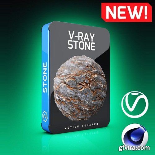 Motion Squared – V-Ray Stone Texture Pack for Cinema 4D