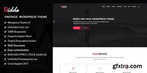 CodeSter - Biddo v1.0 - One Page Portfolio WordPress Theme - 6110
