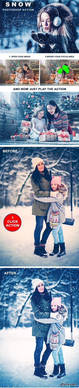 Graphicriver Snow Photoshop Action 22846485