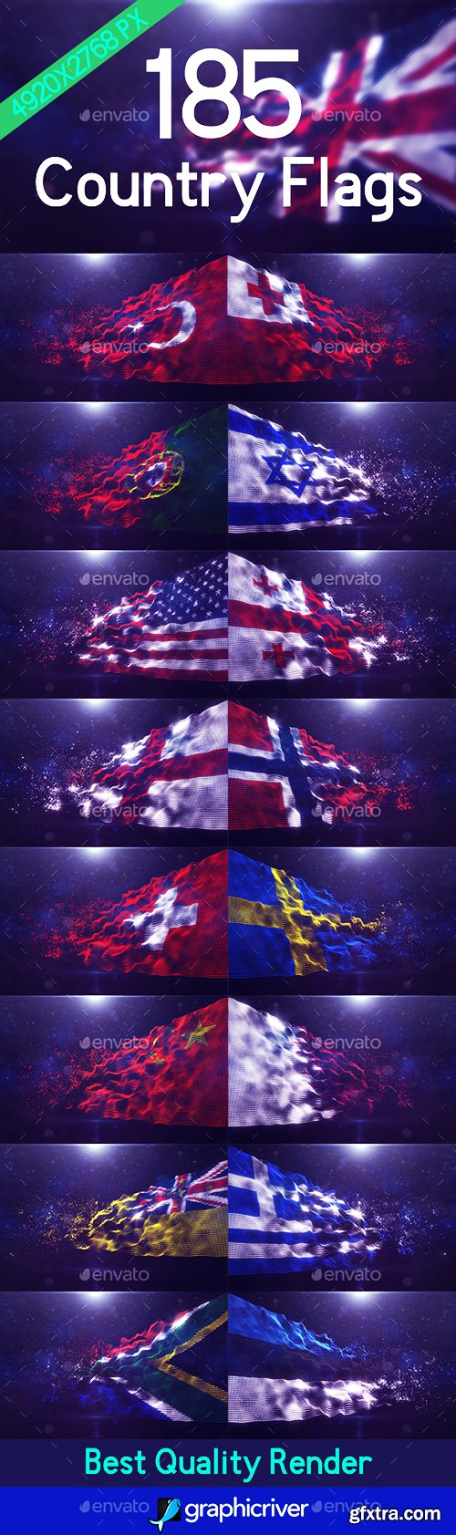 Graphicriver Pixel World Flag 22812878