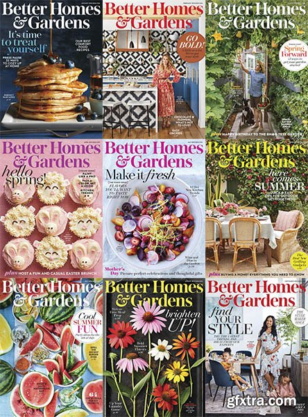 Better Homes and Gardens USA - 2018 Full Year Issues Collection