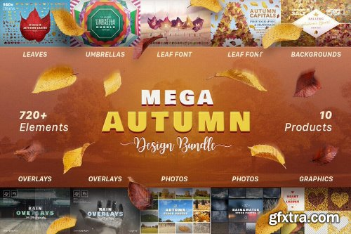 Mightydeals Mega Autumn Design Bundle with 700+ Elements