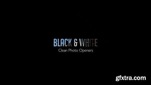 Videohive Black & White - Clean Photo Openers 11909529