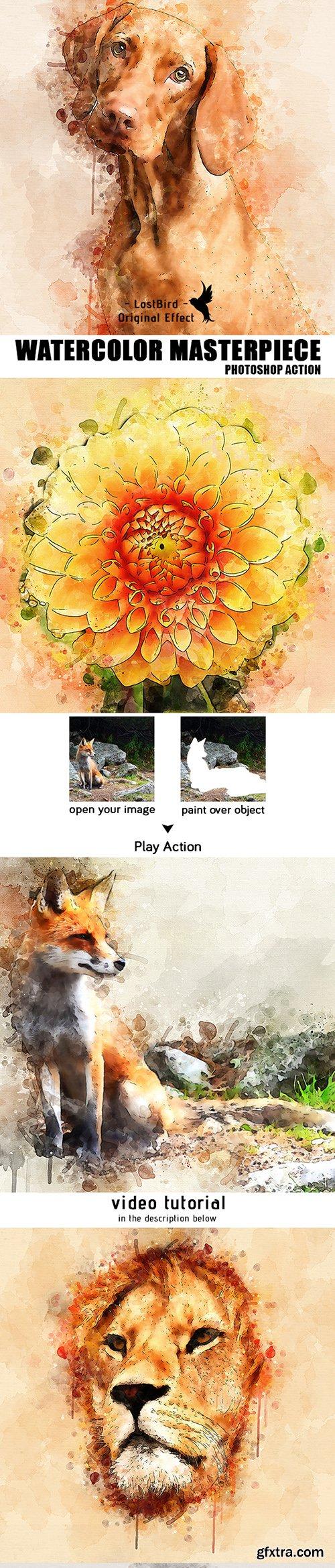Graphicriver Watercolor Masterpiece - Photoshop Action 22921333