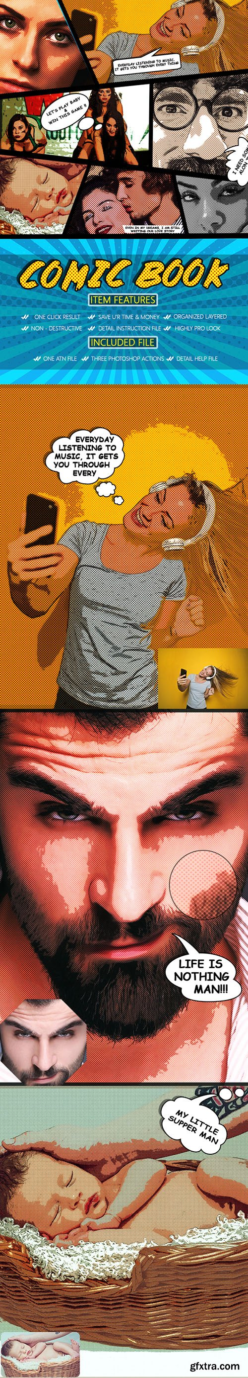 Graphicriver Comic Book Photoshop Action 22908999