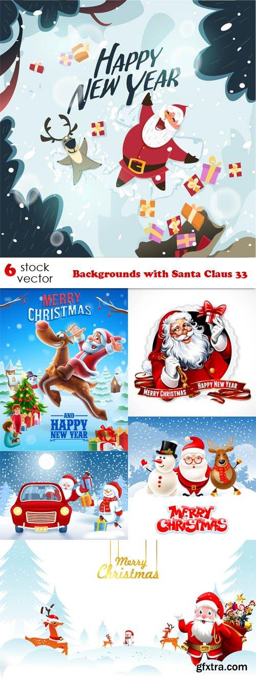 Vectors - Backgrounds with Santa Claus 33