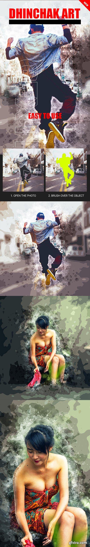 GraphicRiver - Dhinchak Art Photoshop Action 22841869