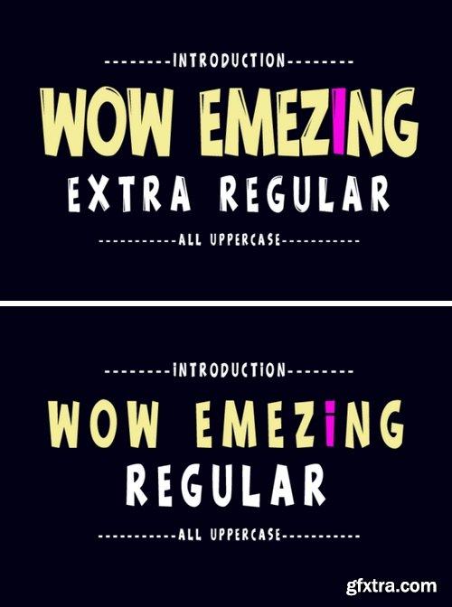 Wow Emezing Font