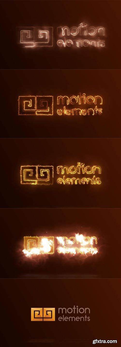 MotionElements - Fire logo reveal - 11419274