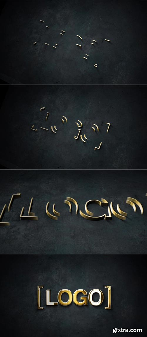 MotionElements - Gold And Silver Stroke 3D Logo Animation - 11594500