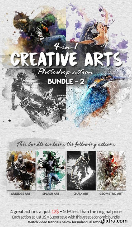 Graphicriver - Creative Arts Photoshop Action Bundle v2 18292627
